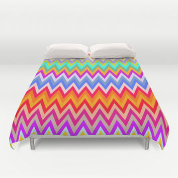 Chevron Mix #5 Duvet Cover by Ornaart