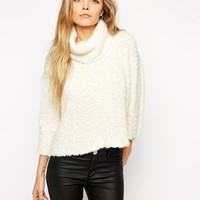 ASOS Jumper With Roll Neck in Fluffy Yarn