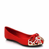 cap-toe-ballet-flats BLACK CHESTNUT RED - GoJane.com