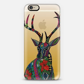 poinsettia deer gold transparent phone case ~ get $10 off using code: 5A7DC3