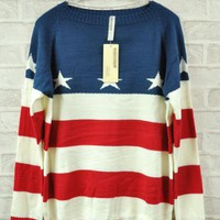The Five-pointed Star Red Stripe Sweater $39.00