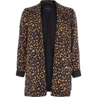 Orange animal print blazer