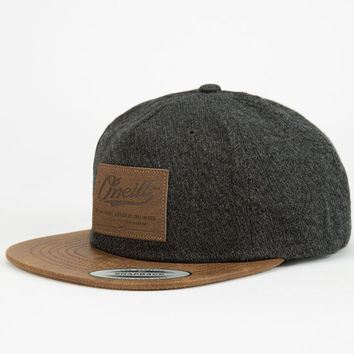 Ox27neill Workshop Mens Strapback Hat Charcoal