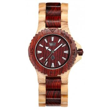 WeWood Date Beige and Brown Wood Watch