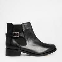 New Look Digby Black Leather Chelsea Boots at asos.com
