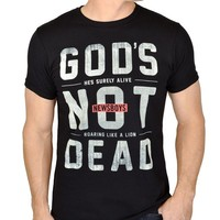 Newsboys - God's Not Dead - Black - Christian Band T Shirt - L