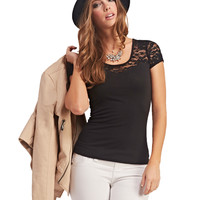 Lace Sweetheart Illusion Tee   Wet Seal