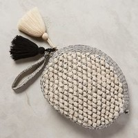 Sicily Pouch by Jasper & Jeera Black & White One Size Clutches