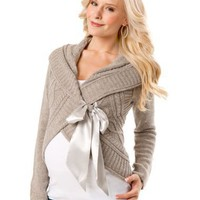 A Pea in the Pod: Long Sleeve Cable Knit Maternity Sweater