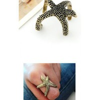 Starfish Bronze Ring@09041220