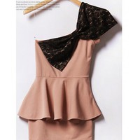 Pink Bow One Should Cotton Dress@T2089p