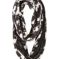 tie dye infinity scarf with lace