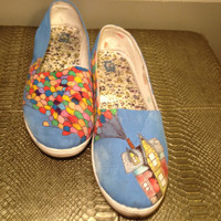 Custom Hand Painted Shoes- Disney&#x27;s UP Theme