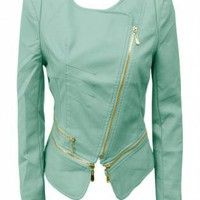 MINT GREEN PVC JACKET