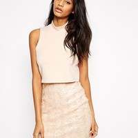 ASOS Sequin Scuba Bodice Mini Dress