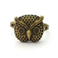 tessies ? Bronze Owl Ring