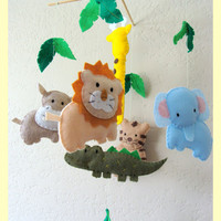 Hanging Mobile Jungle safari theme custom order by hingmade