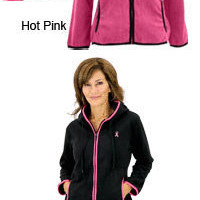 Pink Ribbon Trimmed Polar Fleece Jacket