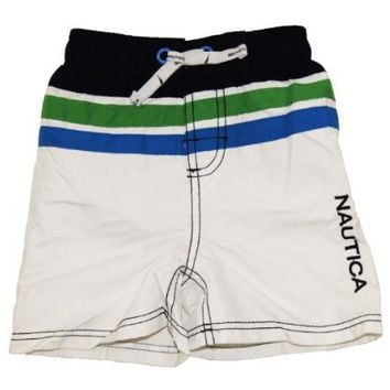 Infant Boy`s White Swim Shorts/Swimwear - Nautica