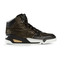 Versace studded hi-top sneakers