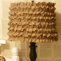 The things I want in my home. / DIY ruffle lamp shade