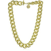 1AR by UnoAerre 18k Gold Plated Groumette Chain Link Necklace