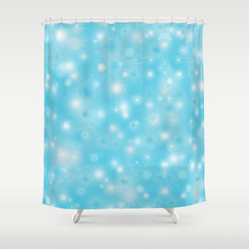 Snowflakes Shower Curtain by EDrawings38