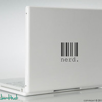Nerd Barcode Laptop Vinyl Graphic Art Decals Stickers L25