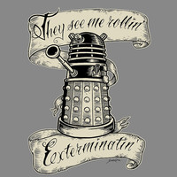 Doctor Who hand printed: They Hatin&#x27; - Tee Shirt