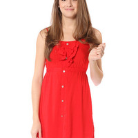 Papaya Clothing Online :: RUFFLE TRIM BUTTON DETAIL DRESS