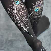 Socks by Sock Dreams » Sock Collections » Critter Socks » Peacock Feather Knee High