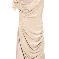 Discount Vionnet Ruched crepe and silk dress | THE OUTNET
