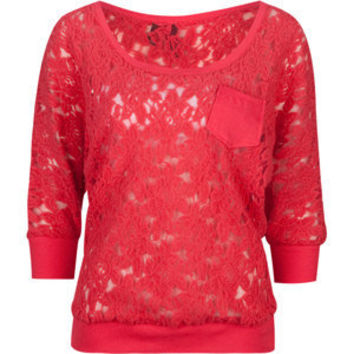 FULL TILT Lace Pocket Womens Top 202980313 | Knit Tops & Tees | Tillys.com