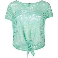 FULL TILT Lace Tie Front Womens Top 193057523 | Knit Tops & Tees | Tillys.com