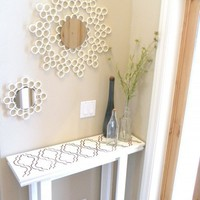 DIY Sunburst Mirror Of PVC Pipes | Shelterness