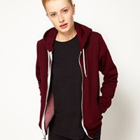 American Apparel Salt and Pepper Zip Hoodie at asos.com