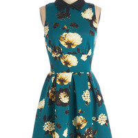 Closet Mid-length Sleeveless A-line Delightful Day Out Dress in Teal