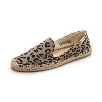 Soludos Leopard Smoking Slippers