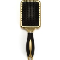 White Glittery Hearts Hair Brush