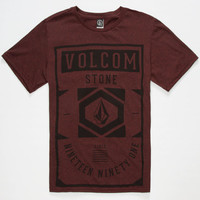 Volcom Whisk Boys T-Shirt Heather Red  In Sizes