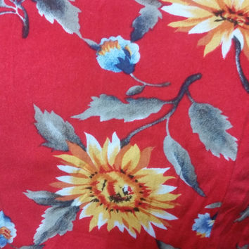 Vintage 90s All That Jazz Form Fitting Flower Print Wrap Dress