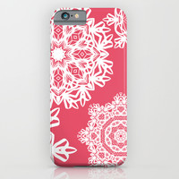 Flurries on Coral iPhone & iPod Case by Lisa Argyropoulos