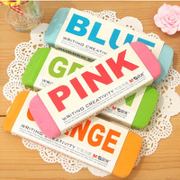 So Big 2pcs Candy Color Stationery Rubber Eraser for DIY drawing, sketch, painting, scrapbook