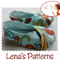 PDF Sewing Pattern Kimono Baby Shoe.. on Luulla