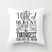 Live Today Throw Pillow by Pink Berry Pattern