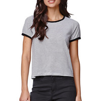 H.I.P. Striped Ringer Top - Womens Tee