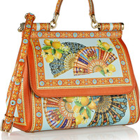 Dolce & Gabbana - Sicily printed textured-leather tote