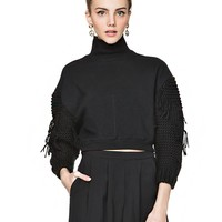 Erin Knotted Sleeve Sweater