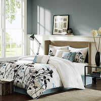 Search Results for white and black comforter