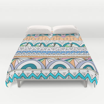 Tribal Lines #4 Duvet Cover by Ornaart